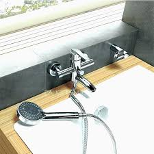 shower attachment for bathtub faucet 39 inspirational water coming out of bathtub faucet and shower head