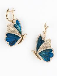 diamond earrings for baby baby diamond butterfly earrings by busatti opera italian attitude