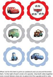 cars cake toppers cupcake toppers cars party decorations free printable ideas