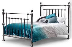 york contemporary black nickel bed frame double king size crazy