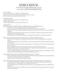 Sample Resume For Gym Instructor by 100 Sample Resume For Fitness Instructor Sample Resumes For