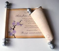 scroll invitations scroll invitations artful beginnings