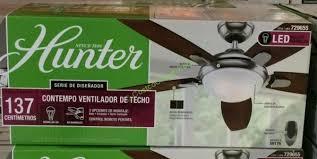 hunter avia led indoor ceiling fan costco hunter ceiling fan avia 54 led indoor pertaining to stylish