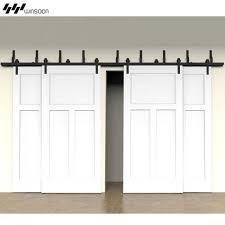Track For Sliding Barn Door Modern 4 Doors Bypass Sliding Barn Door Hardware Track Kit 5 16ft