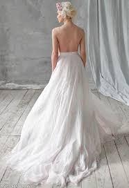 Whimsical Wedding Dress Amalzeya Chiffon Wedding Dress Low Back Wedding Dress Open Back