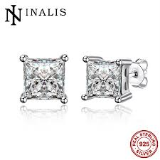 sted jewelry inalis fashion women jewelry 925 sterling silver stud earrings