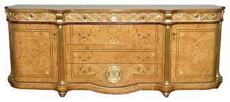 7 5 u0027 honey walnut french rococo 6 drawer ornate buffet sideboard