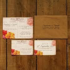 postcard wedding invitations shabby chic postcard wedding invitation feel wedding