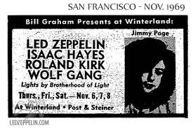 winterland november 6 1969 san francisco led zeppelin