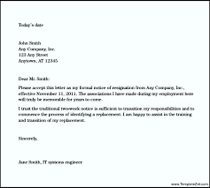 two week job resignation letter templatezet