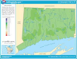 connecticut on map map of connecticut lakes streams and rivers