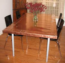 Copper Dining Room Tables Copper Dining Table Bray 10 Mil Copper Sheet