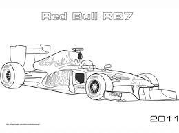 coloriage voiture de formule 1 red bull rb7 coloriages à