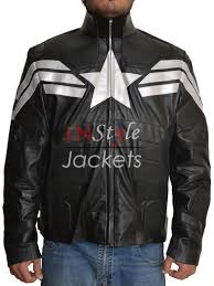 white leather motorcycle jacket black leather jacket from captain america