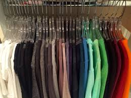 q how do i organize hanging clothes by color chaos to order