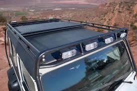 roof rack emergency light bar gobi jeep lj roof rack