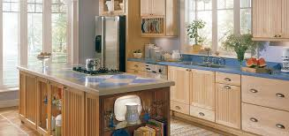 Fine Kitchen Cabinets Kitchen Thomasville Natural Maple Kitchen Cabinet With Blue