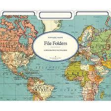 cavallini file folders cavallini world map 2 file folders paper source