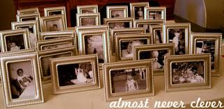 rehearsal dinner decorations using baby or kid pictures at your wedding almost never clever