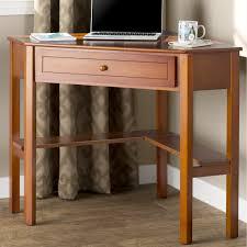 Corner Desk Walmart Tables Millsbury One Drawer Corner Writing Desk Classic Style