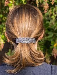barrette hair hair clip barrette hair accessory nouveau swirl 80mm