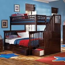woodland full over full stair bunk bed ab56802 atlantic estes