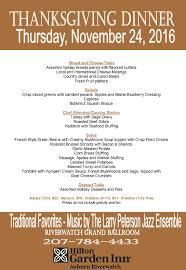 thanksgiving traditional thanksgiving dinner restaurants menu