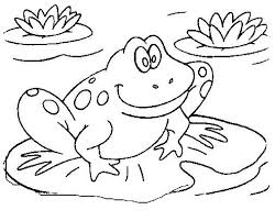 free frog coloring pages print color interesting