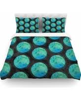 great deals on watercolor strokes queen duvet cover in blue white