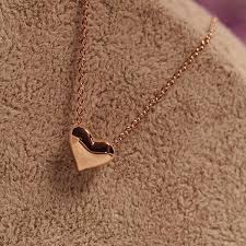 girl heart necklace images Wholesale trendy tiny heart short pendant necklace women gold jpg