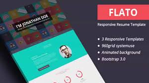 Cv Website by Flato Responsive Resume Personal Portfolio Temp Website