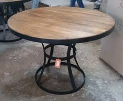 Industrial Style Dining Room Tables Modest Decoration Industrial Round Dining Table Pleasant Design