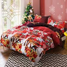 Christmas Duvet Cover Sets Christmas Bedding Set Santa Claus Reindeer With Bed Sheets Kids