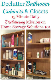how to declutter bathroom cabinets u0026 closet shelves