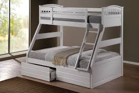 Ashley White Duo Double Single Bunk Beds With Drawers - King single bunk beds