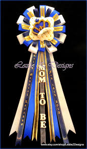 royal prince crown theme baby boy shower corsage pin keepsake