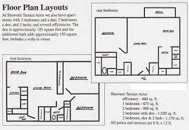 One Bedroom And A Den Shawnee Terrace Arms Floor Plans Shawnee Properties