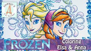 coloring elsa u0026 anna disney frozen fun run art pack