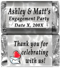 engagement party favors chocolate custom printed for your engagement party