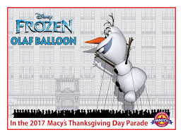 ksdk frozen snowman olaf tapped to debut as a balloon in