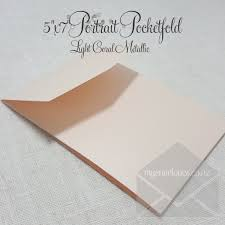 wedding invitations auckland light coral metallic pocketfold wedding invitation vertical 5x7