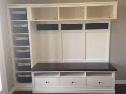 Ikea Foyer Ideas Ikea Mudroom 2 Expedit Bookcases Besta Storage With Drawers