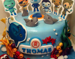 octonauts birthday cake octonauts cake topper etsy uk