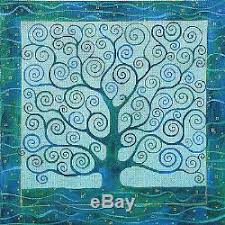 tree of handpainted needlepoint canvas by barbarafox