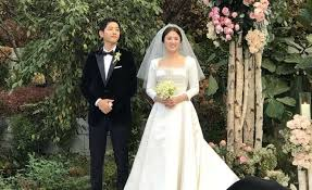 wedding dress song song joong ki song hye kyo wore for their wedding star2
