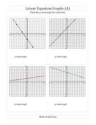 slope and y intercept worksheet worksheets