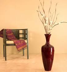 Large Brown Floor Vase Large Glass Floor Vase 25 In Brown Bamboo Tall Floor Vase Floral