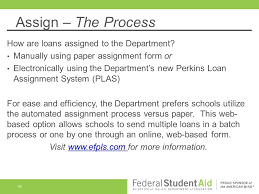 Assignment Form Ending Your U0027s Participation In The Federal Perkins Loan