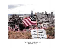 City Of Cincinnati Flag Absecon Flag Display Calls Attention To Veteran Suicides News