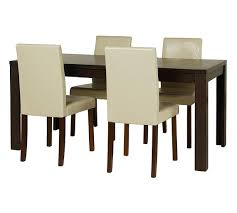 Buy HOME Penley Extending Walnut Dining Table   Chairs Cream - Walnut dining room chairs
